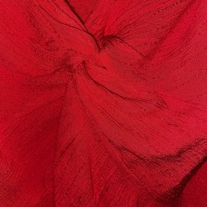 AMERICAN EAGLE RUFFLED RED TWIST TOP